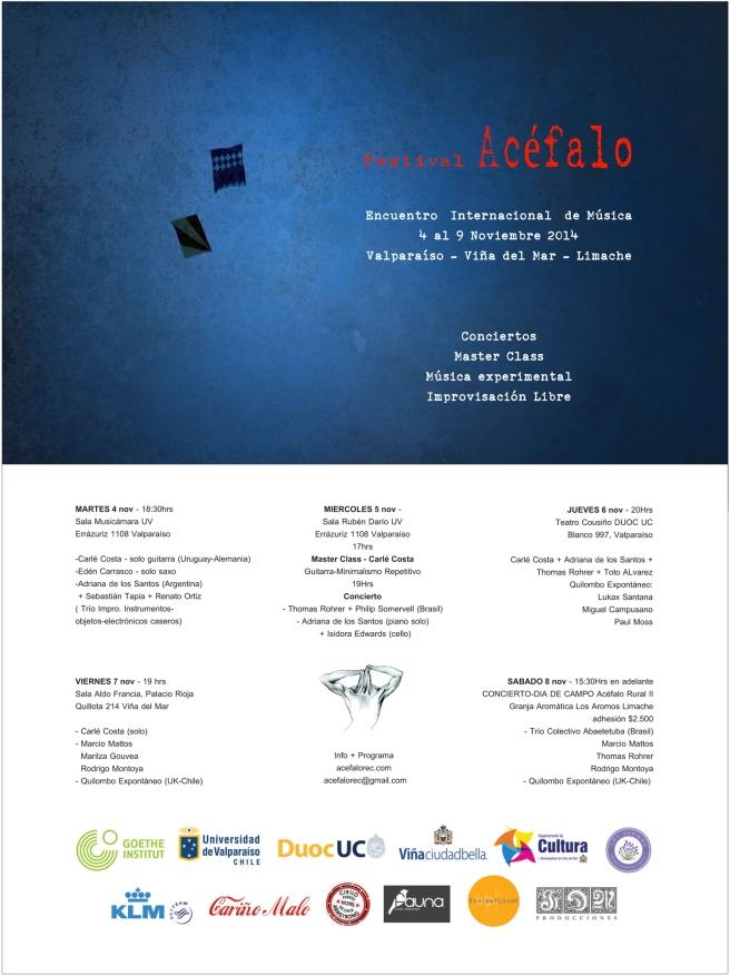 PROGRAMA ACéFALO FEST 2014
